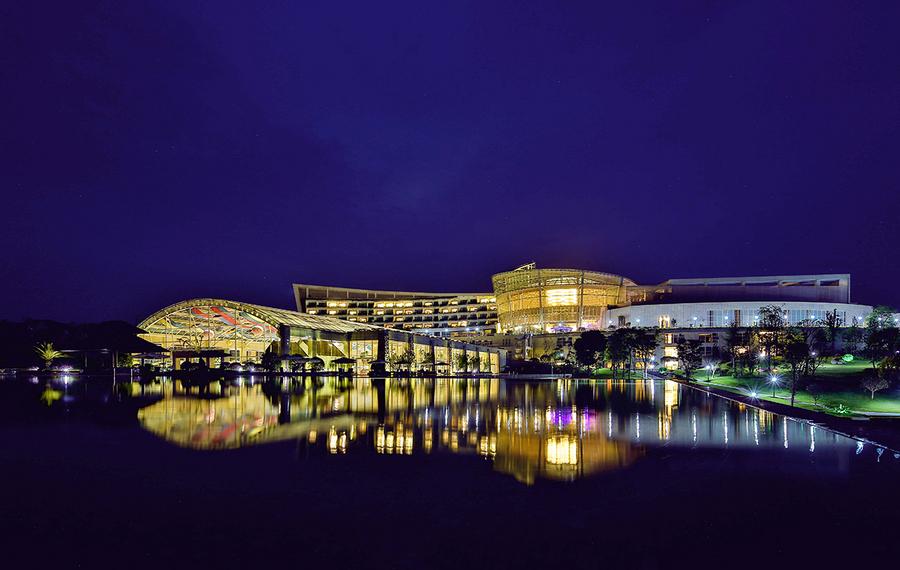 简阳三岔湖长岛天堂洲际酒店